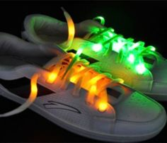 Glow in dark laces.  Fun gift Idea for soccer team/soccer player