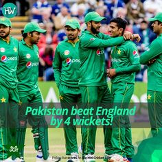 Pakistan finally win an ODI in the series. A superb chase, led by Sarfraz Ahmed and Shoaib Malik! #ENGvPAK #ENG #PAK #cricket