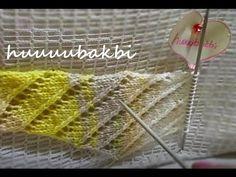 ajurlu baktüs şal (baktüste eksiltme ve artırmalar) - YouTube