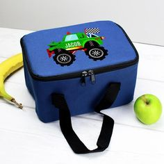 Personalised Blue Lunch Bag - Monster Truck