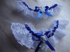 blue bridal garter #weddings #brides
