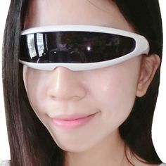 Futuristic narrow glasses,sci-fi glasses,single lens glasses,Cyclops glasses #Unbranded