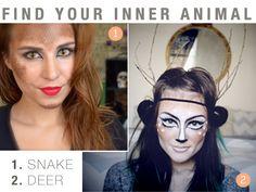 Halloween Makeup: Find your inner animal!