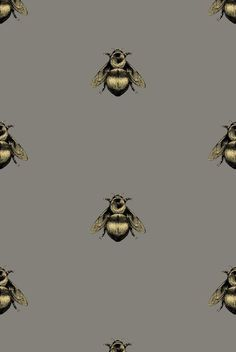 Napoleon Bee wallpaper by Timorous Beasties Vinyl Wallpaper, Cloakroom Wallpaper, Wallpaper Toilet, Quirky Wallpaper, Hallway Wallpaper, Print Wallpaper, Wallpaper Backgrounds, Cottage Wallpaper, Kitchen Wallpaper