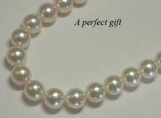 A fine strand of Akoya pearls.   Countryman's Village Jewelers