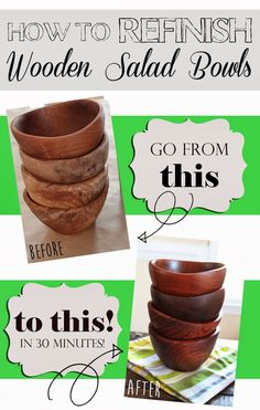 How to Refinish Wood Bowls. I always used mineral oil and it never dried with a hard finish. I'll need to try Walnut Oil
