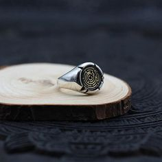 Men's Sterling Silver Maze Wrap Ring