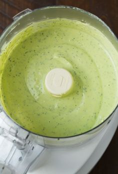 Creamy Avocado, Lime, Garlic, Parsley, Dill, Chive, and Onion Ranch Dressing