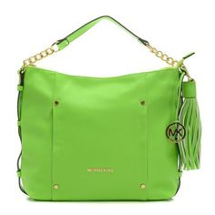 139605d1910e6 Cheap Michael Kors Leigh Stud Large Green Shoulder Bags Clearance Green  Shoulder Bags