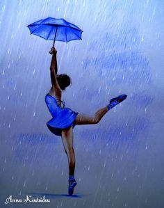 Ballerina in the Rain