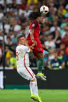 #EURO2016 Renato Sanches Krzysztof Maczynski during the UEFA EURO 2016 quarter final match between Poland and Portugal at Stade Velodrome on June 30 2016 in...