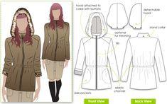 Safari jakcte with detachable hood