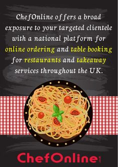 ChefOnline is a digital platform for ordering food online in the UK. This platform acts as an intermediary between the customers and the independent restaurants and takeaway services. Order Food Online, Food Menu, A Table, Restaurants, Platform, Digital, Business, Restaurant