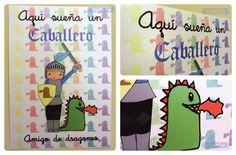 "Lámina infantil ""Aquí sueña un CABALLERO"" / Designed by Nhani"