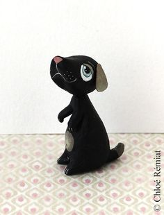 Black dog mini by chloeremiat on Etsy