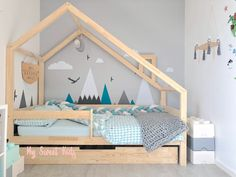 Lits Montessori – Page 3 – My Sweet Kids Girl Nursery, Girls Bedroom, Boy Room, Kids Room, Toddler House Bed, Baby Staff, House Beds, Little Girl Rooms, Baby Room Decor