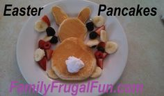 Easter Pancakes - Great if you're searching for Easter Breakfast Ideas!