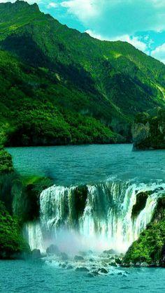 Beautiful Waterfalls, Beautiful Landscapes, Places To Travel, Places To See, Wonderful Places, Beautiful Places, Waterfall Wallpaper, Nature Photography, Travel Photography