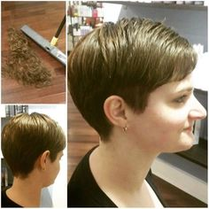 25 Simple Easy Pixie Haircuts for Round Faces - Short Hairstyles 2020 - Hairstyles Weekly Haircut For Fat Women, Pixie Haircut For Round Faces, Short Hair Cuts For Round Faces, Hairstyles For Fat Faces, Bob Hairstyles For Thick, Round Face Haircuts, Short Hair With Layers, Short Hair Cuts For Women, Pixie Hairstyles