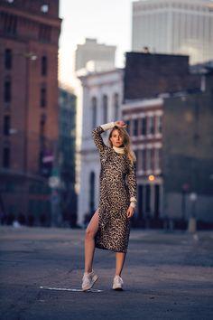 Rebecca Laurey by @RebeccaLaurey LEOPARD SILK DRESS: http://bit.ly/297KcsA PLATFORM SNEAKERS: http://bit.ly/297KAr0