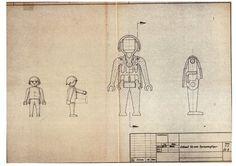 Planos de Playmobil. Hans Beck, 1970-1971.