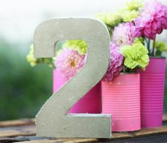 Simple DIY Concrete Table Numbers | Shelterness
