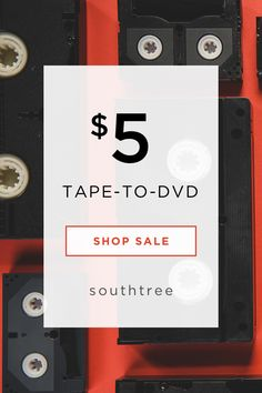 Have old home movies? Southtree converts them to DVDs or digital files, so you can enjoy with your family. Shop our sale to save 60% with $5 tape-to-dvd transfers.