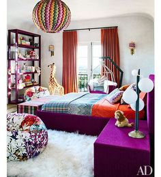 Colorful teenage room