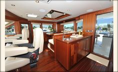 Ocean Alexander 90-Sky Lounge-Custom Yacht Interior Design-Destry Darr Designs