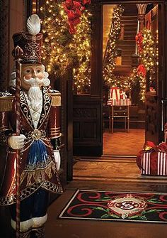 The stunning Santa's Royal Guard is poised to welcome all your guests for your holiday parties and features vivid glossy paints for a bold, cheerful statement.