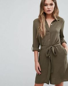 Browse online for the newest Lipsy Belted Shirt Dress styles. Shop easier with ASOS' multiple payments and return options (Ts&Cs apply). Latest Fashion Clothes, Latest Fashion Trends, Fashion Online, Khaki Shirt Dress, New Outfits, Fashion Outfits, Lipsy, Asos Online Shopping, Costume Design