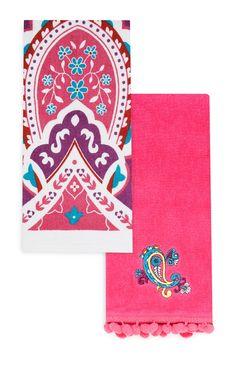 Primark - 2-Pack Pink Tea Towels