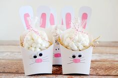Easter Bunny fry box craft from Eighteen 25