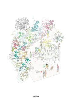ACAD Color - axo jardin parque plantas flora verde - Langarita-Navarro Arquitectos . Red Bull Music Academy . Nave 15 Matadero . Madrid