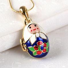 I have to have this!!!!  Matryoshka Locket