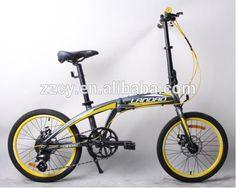 Tipo y material del marco de aluminio bicicleta plegable 20 pulgadas bici plegable