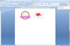 Tutorial adornos en Word para utilizar en nuestros proyectos de scrapbooking #scrapbooking #tutorial #embellishments