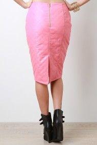 Block Label Skirt