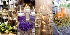 romantic and simple centerpieces - Google Search