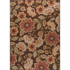 Tayse Rugs Majesty Brown 3 ft. 11 in. x 5 ft. 3 in. Transitional Area Rug - MJS1708 4x6 - The Home Depot