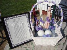 Bridal Shower Gift: Candle Poem Basket