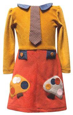 """Decaf Plush """"Mushrooms"""" Sophisti-Skater Dress"""