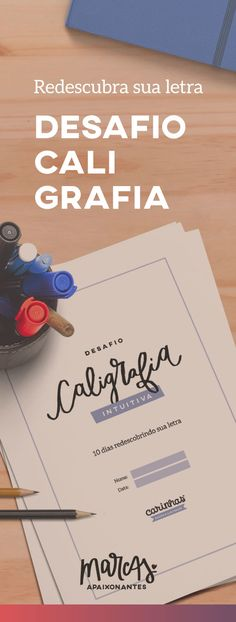"""Desafio Caligrafia Intuitiva: 10 dias para você se reconectar com a sua letra"" Lettering Tutorial, Diy Letters, Love Letters, Calligraphy Drawing, Pencil And Paper, Blog Love, Study Notes, Letter Art, My Scrapbook"