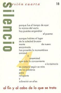 Silencio -Versión 4 -Un poema  contemporáneo de Candela Vizcaíno.