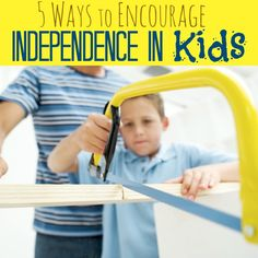 Are you stifling your child's growth or encouraging him to become independent and develop life-skills on his own? Here are five ways to spark some independence in your child! www.pintsizedtreasures.com