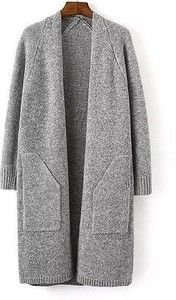 Winter European and American Women's Fall Coat Thick Coat Fashion Loose Long Sweater Knit Cardigan Jacket Knitwear Fashion, Cardigan Fashion, Knit Fashion, Knit Shirt, Knit Cardigan, Embroidery On Clothes, Crochet Wool, Knitted Coat, Long Sweaters