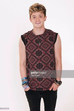 Connor Ball from the band The Vamps is photographed for Word Up! on June 18…
