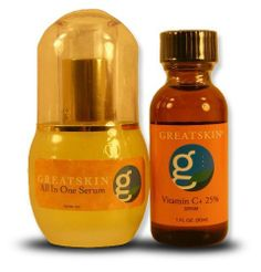 GreatSkin Product Duo - C+25% + All-In-One Serum 1 oz by GreatSkin. $105.00. For Combination to Oily skin. Product in Detail 1 oz