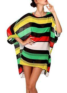 #Colleer #Frauen #Chiffon #gestreifter #Strand #Bikini #Badebekleidung #Bikinioberteile #(Regenbogenstreifen) Colleer Frauen Chiffon gestreifter Strand Bikini Badebekleidung Bikinioberteile (Regenbogenstreifen), , Material: 100% polyster und hohe Qualität., Selbstriegel Verschluss, einfach zu setzen oder ausschalten nehmen., Sexy Bikini Kleid Bikinistahlstütze, Farbe:Schwarze