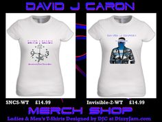 David J Caron Merchandise Design at Dizzyjam Design T Shirt, Shirt Designs, Album, T Shirts For Women, Band, Artwork, Mens Tops, Fashion, Moda